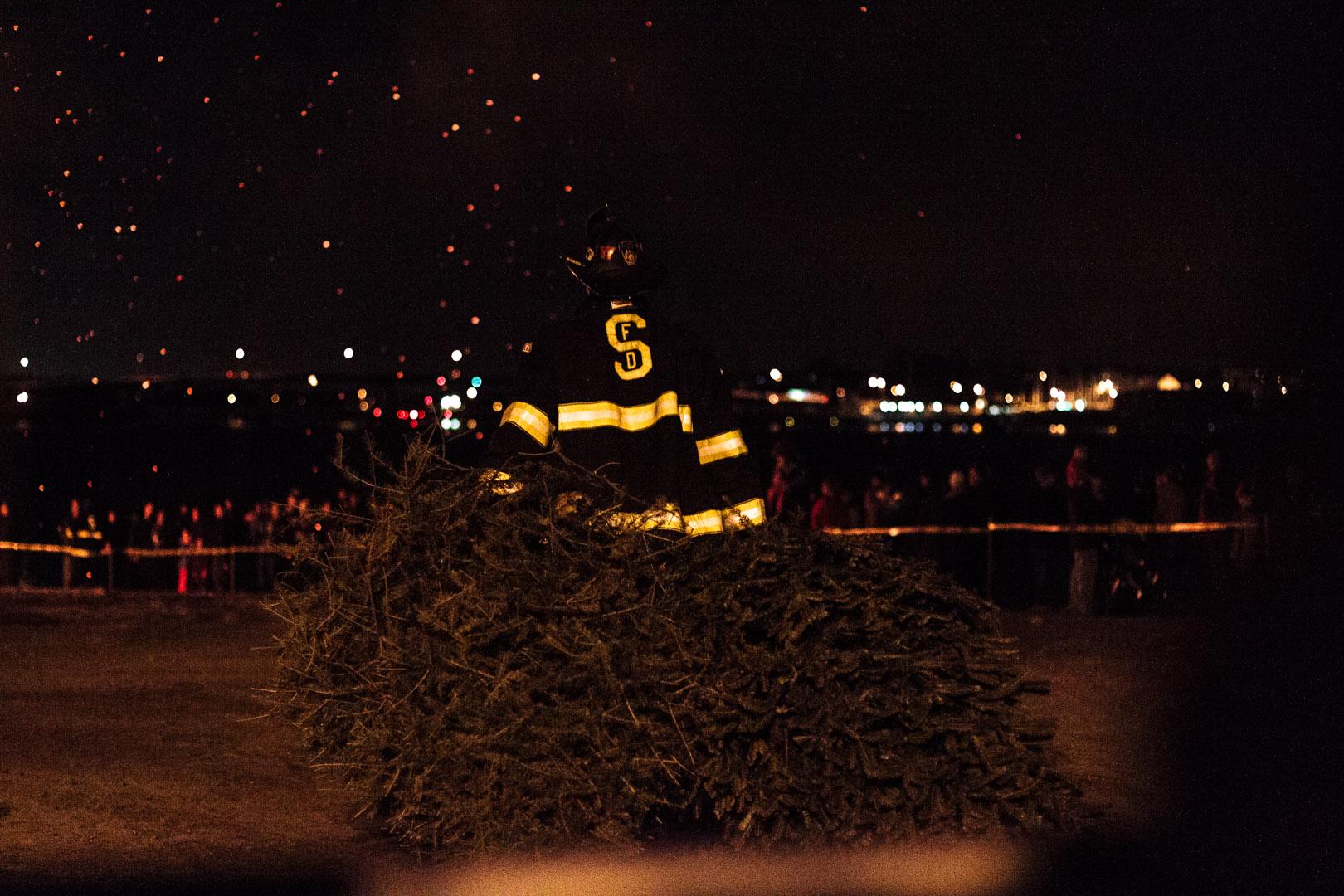 10th Annual Christmas Tree Bonfire, Salem MA | Christina Minniti Photography